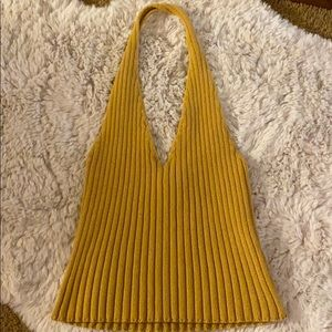 Mustard Yellow Halter Top